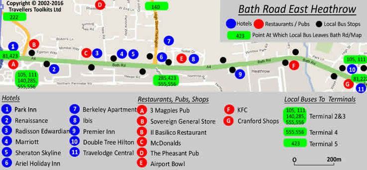 Map of Bath Road (Eastern Section) Heathrow  Tip: there is more than one Sheraton, more than one Marriott & more than one Premier Inn, take care when booking (hopefully only because the con hotel is full, as the con hotel sales are important to the survival of the cons) or visiting a near con hotel.