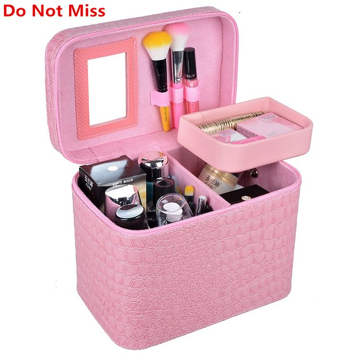 Do Not Miss Alligator Cosmetic box for make up High capacity professional makeup case hand Cosmetic case toiletry organizer bag