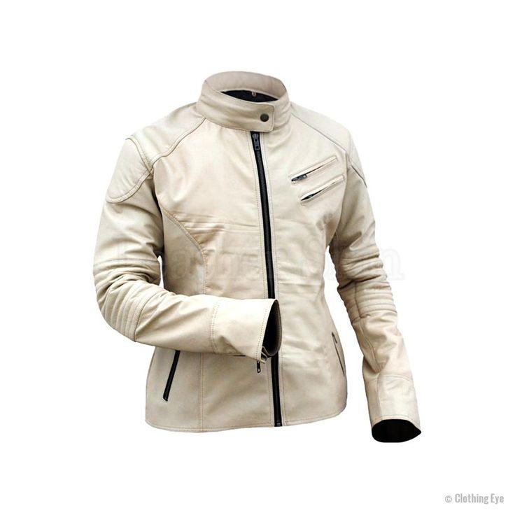 White Hot Unisex Leather Jacket