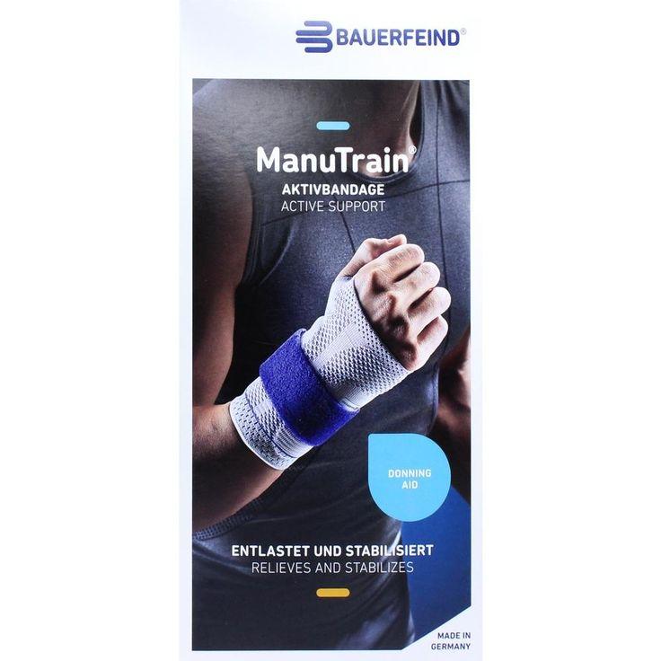 MANUTRAIN Handgelenkbandage links Grösse 3 titan:   Packungsinhalt: 1 St Bandage PZN: 01285996 Hersteller: Bauerfeind AG / Orthopädie…