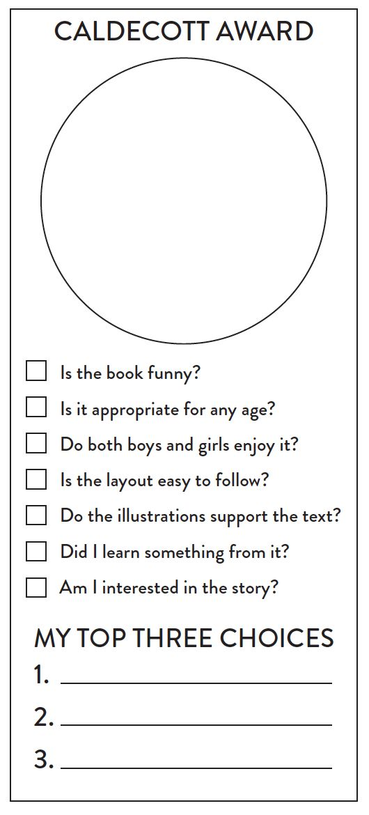 predictions from kids about which book will win the Caldecott Award