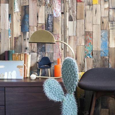 Revestimiento con trozos de madera #pared