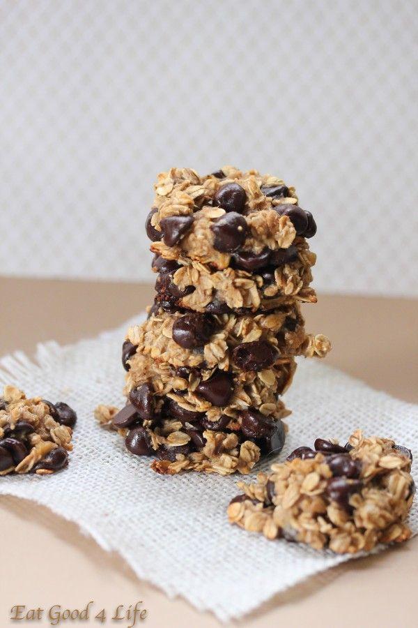 Vegan and gluten free banana chocolate chip cookies from eatgood4life.com