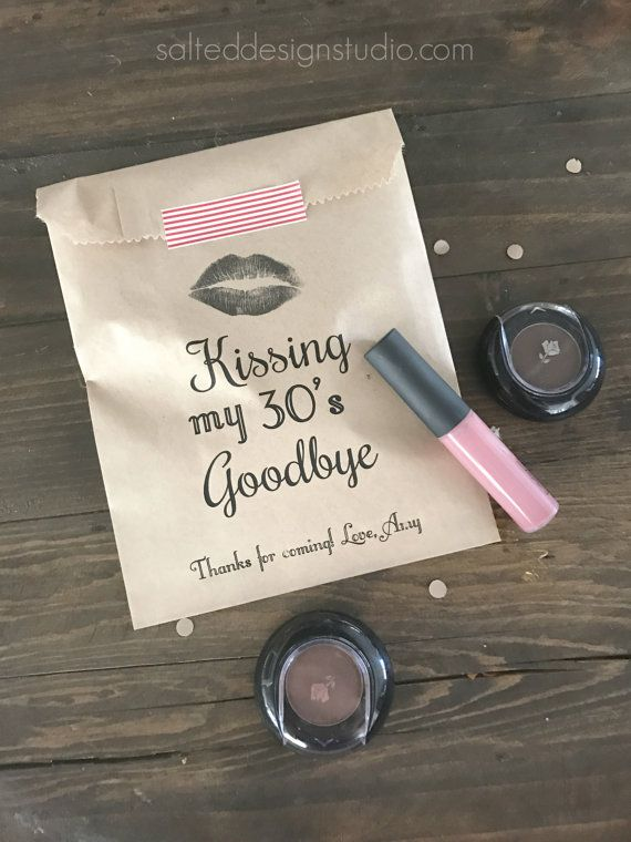 Birthday Favor Bags Kissing My 30th 40th 50th 60th 70th Etc