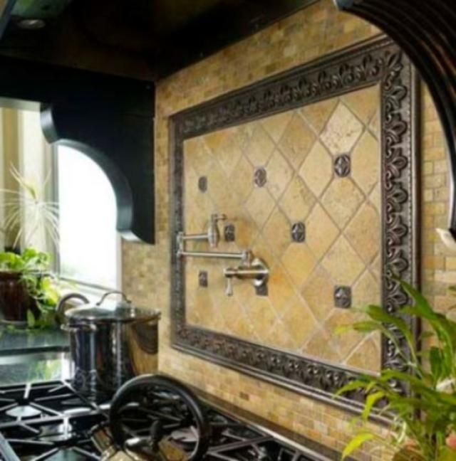 62 best tile backsplashes images on pinterest backsplash for Tuscan style kitchen backsplash