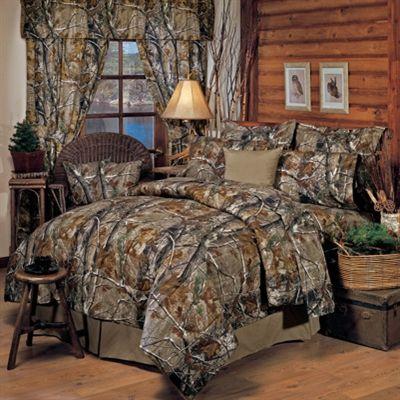 Realtree All Purpose Camo 8 Pc QUEEN SIZE Comforter Set & 1 Matching Window/Valance Drape Set