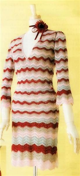 Платье узором зиг заг