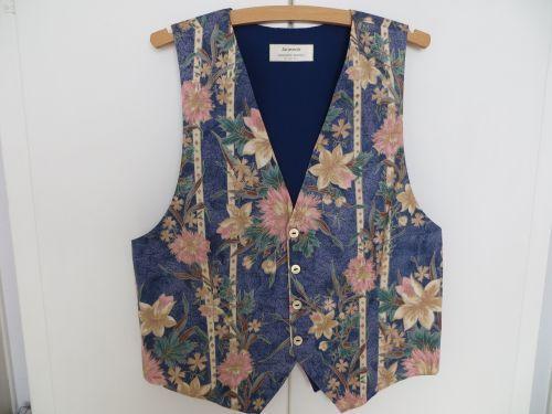 Luxury Wedding Waistcoat. Blue,Ivory,Peach Mens Floral. 38 - 40. £39.99