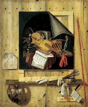File:Gijsbrechts, Cornelius N. - Trompe-l'œil mit Atelierwand und Vanitasstillleben - 1665.jpg