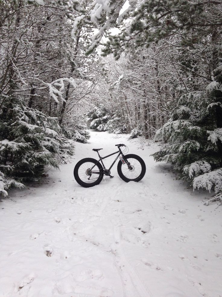 Fat bike / snow bike / stop at nothing / go anywhere / alcan outfitters / surly / pugsly #fatbike #bicycle