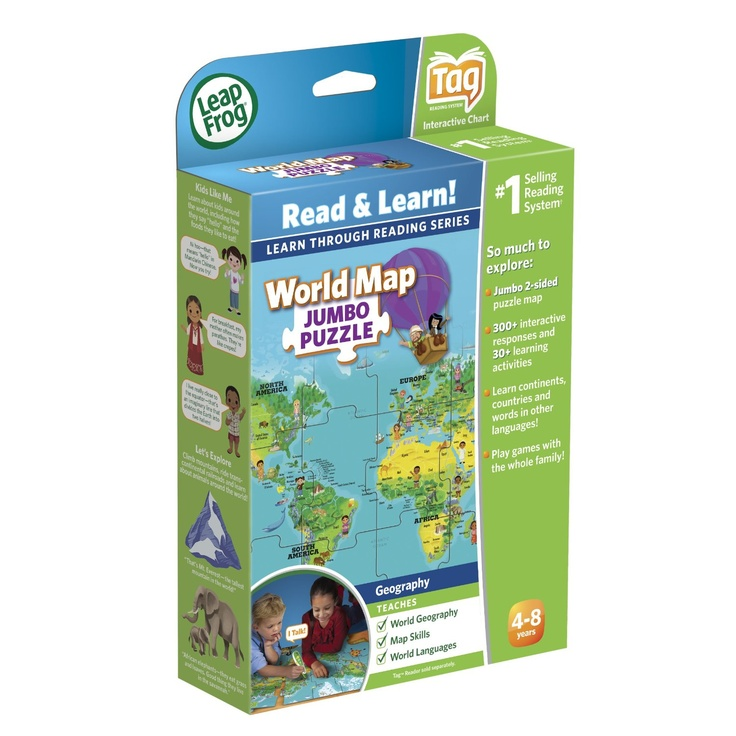 Amazon leapfrog tag world map jumbo puzzle toys games amazon leapfrog tag world map jumbo puzzle toys games xaviers 1st birthday wish list pinterest gumiabroncs Gallery