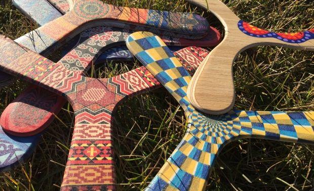 Boomerangs made by Stéphane Marguerite