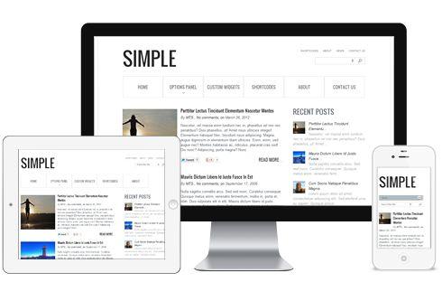 Simple A Fluid Layout Responsive Blog WordPress Theme