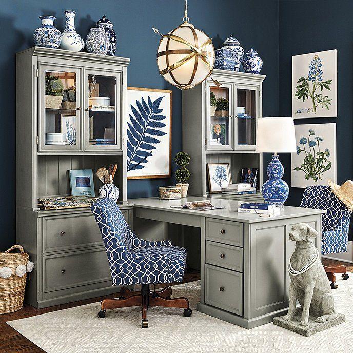 Tuscan Desk Return Office Group Large Ballard Designs Home Office Furniture Home Office Design Home Office Decor
