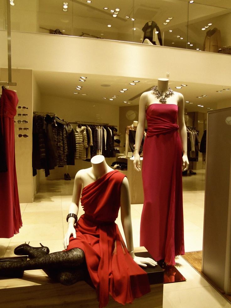 Max Mara window display #larisa #greece #red_passion