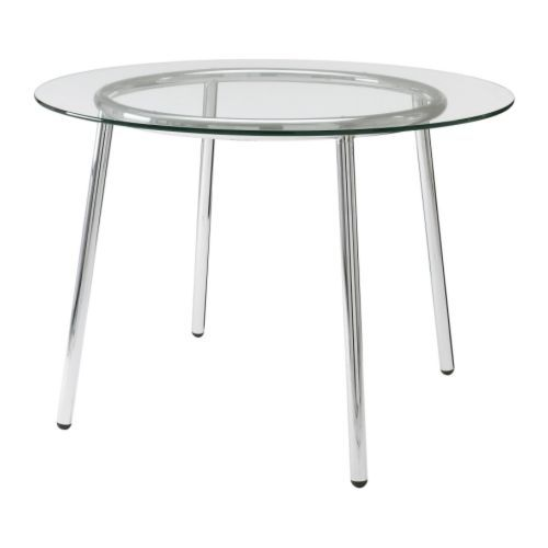 $99 IKEA - Glass table- use for small conference room & add large logo to center to look like etched glass