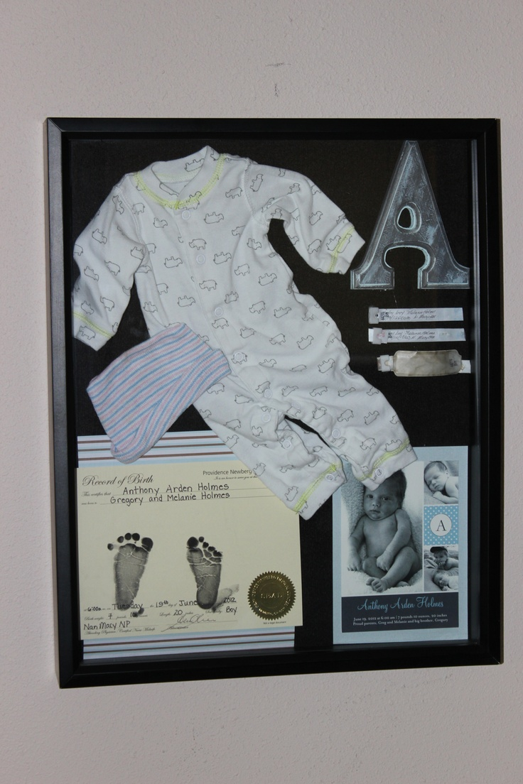Baby Memory Shadow Box Love This Idea Shadow Boxes