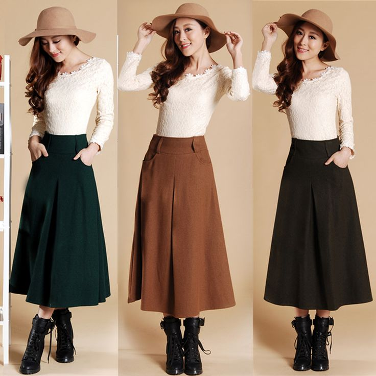 A Line Winter Skirts