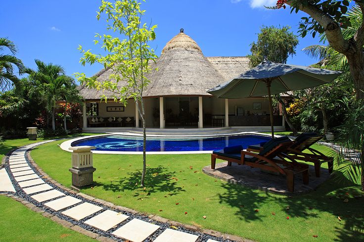 3 bedroom villa garden and pool deck #dusunvillas #bali