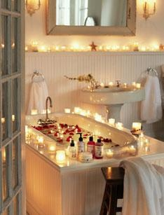 Gold Canyon Candles Covering A Romantic Bathroom Www