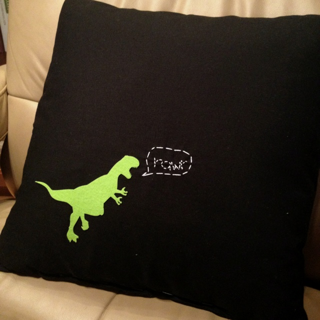 Dino pillow #pillowcase #dinosaur #diy