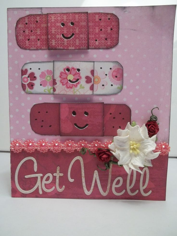 Get well card using scraps of paper