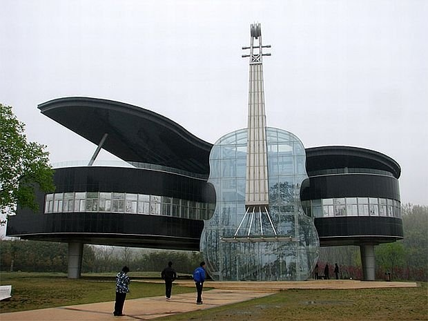 Piano house in Huainan, China.