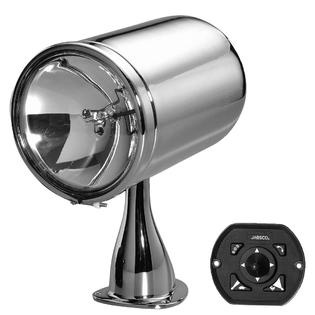 I have been searching for a searchlight that is capable of being hung from the batton. Here is one for around 870$ this may be to expensive, i am still currently looking for a cheaper one.