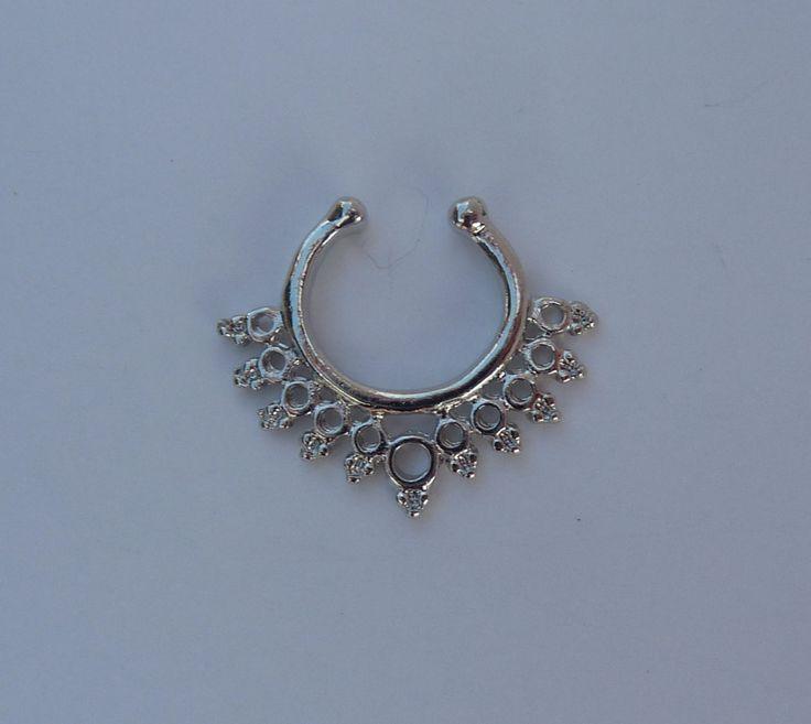 Fake septum ring, silver fake septum ring, fake nose ring, silver fake nose ring, nose ring, silver septum ring, septum ring, septum, S13