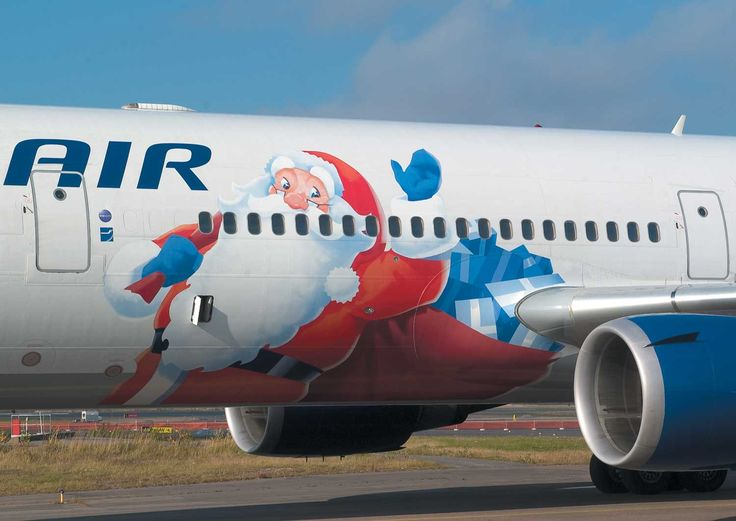 Santa Claus has his own airplane... how else?!