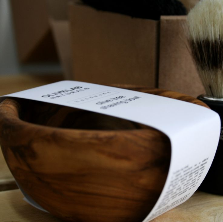 shaving bowl from olive tree wood