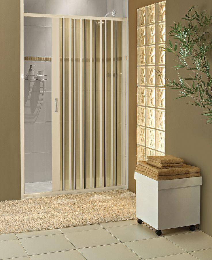 Box sanfonado para banheiros | Já pensou em instalar um box sanfonado de PVC no seu banheiro? É uma ótima opção pra quem procura praticidade, design e preço baixo. O box sanfonado da BCF é fácil de instalar e de limpar.
