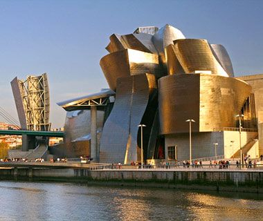 The Guggenheim, Bilbao, Spain Frank Gehry–designed, titanium-clad phenomenon—the thrill of formal complexity and high art