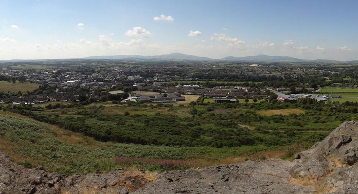 The view of Enniscorthy town from the top of Vinegar Hill