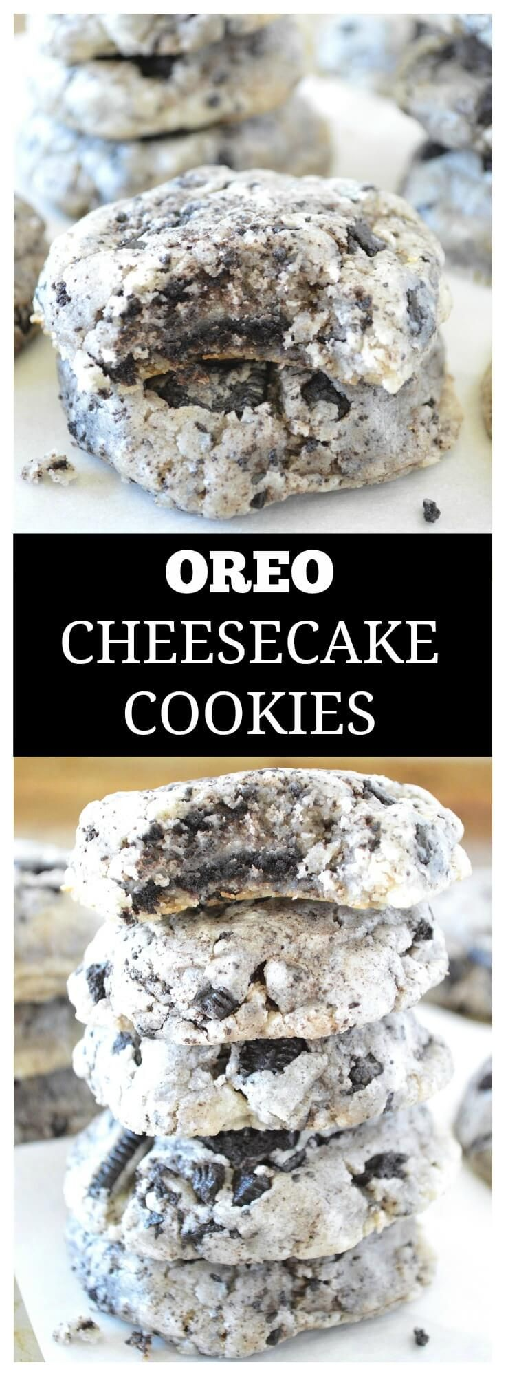 Thick, chewy cookies PACKED with Oreo cheesecake flavor!