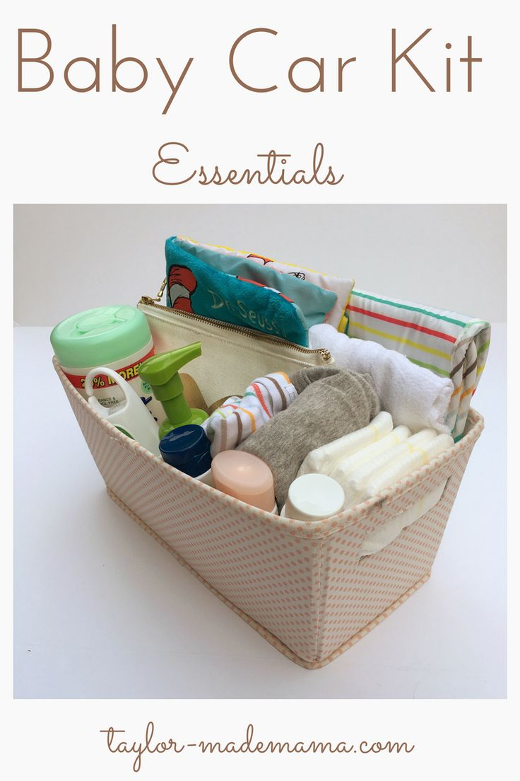 Everything a new mom needs to create a well stocked baby car kit in order to be prepared for any emergency!