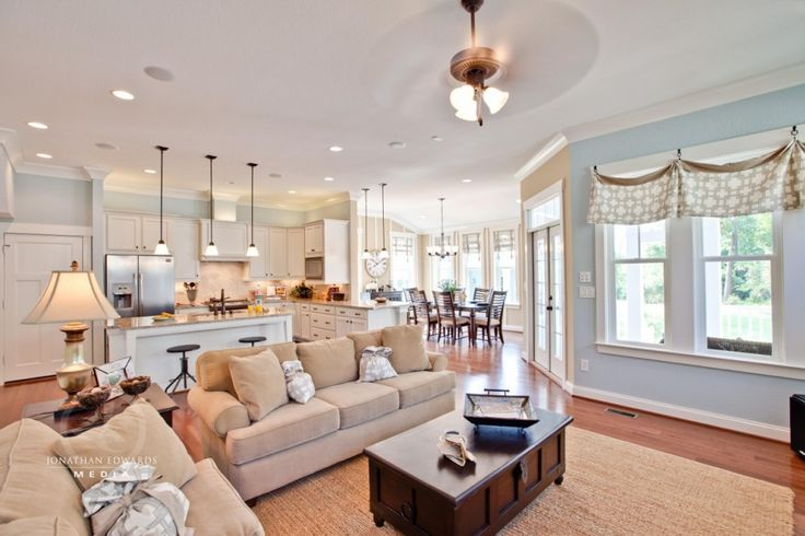 Every room in this house is to die for!: Open Concept, Open Floor Plans, Open Plans, Living Rooms, Color, Dream House, Open Floors Plans, Families Rooms, Windows Treatments