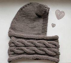 Scarf knit cap with ear when schoenstricken.de