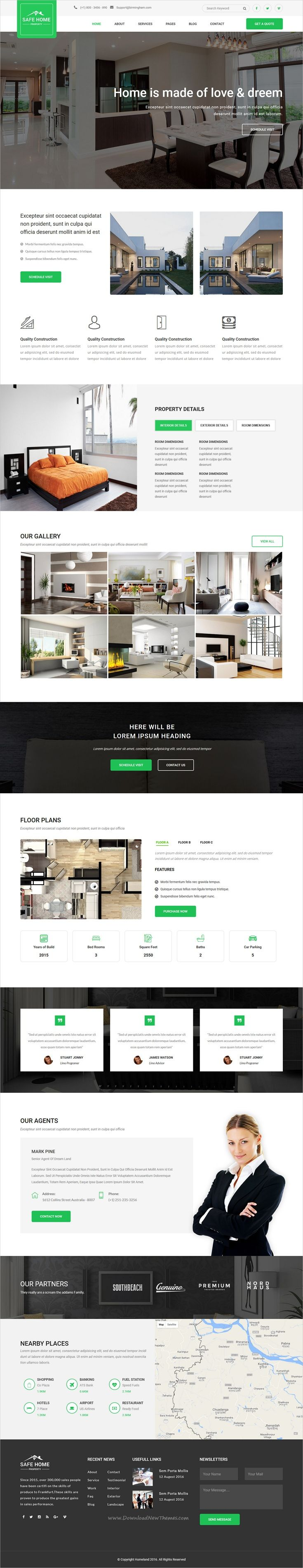 Safehome is clean and modern design responsive #HTML5 #bootstrap template for single #property real estate agencies website download now➩ https://themeforest.net/item/safehome-real-estate-single-property-html5-template/19751077?ref=Datasata