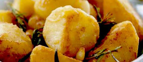Oven roasted rooster potatoes with garlic and rosemary recipe. British recipes from Cookipedia. You can see a list of stockists of http://www albert-bartlett co uk/products/rooster_detail Albert Bartlett Rooster potatoes on their http://www albert-bartlett co uk/products/where_to_buy website. You can also buy their seed potatoes, should you wish to grow your own.