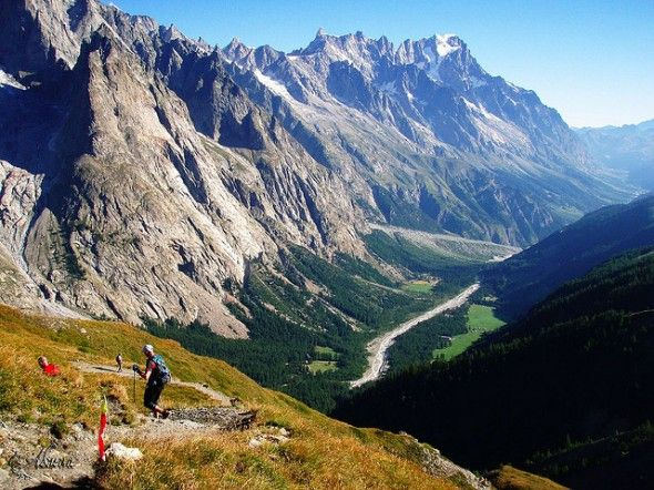 the North Face Ultra-Trail du Mont Blanc - an ultra-marathon run between France, Italy and Switzerland. The beauty of trail running ...