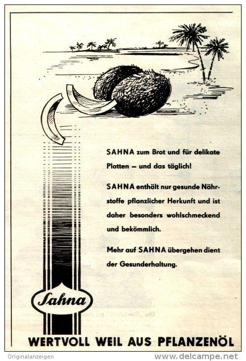Amazing Original Werbung Anzeige DDR SAHNA AUS PFLANZEN L ca x