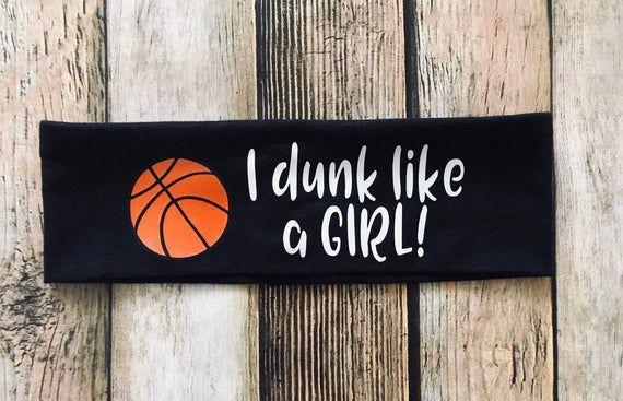 Ich tauche ein wie ein Mädchen Stirnband, Basketball Stirnband für Mädchen, Basketball Stirnband, Team Stirnband, aalen   – Products