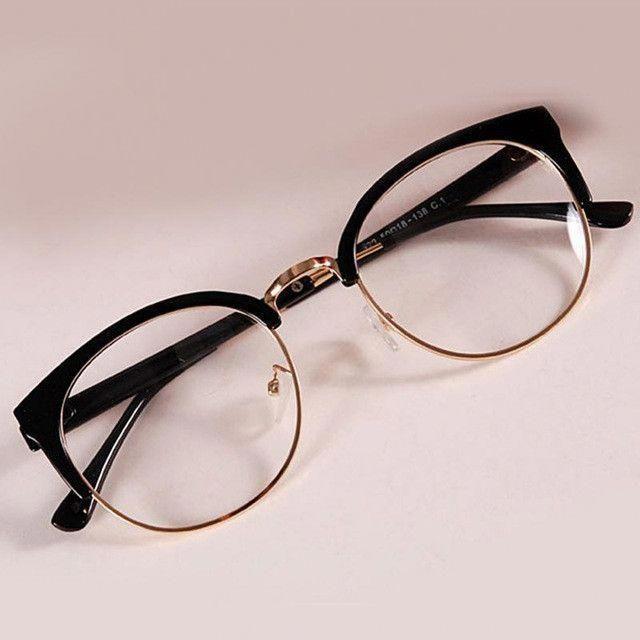 New Style Anti-Radiation Goggles Plain Glass Spectacles Fashion Women Metal+Plas…