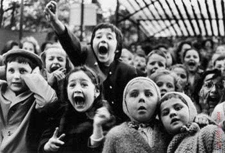 """Alfred Eisenstaedt """"Children at Puppet Theatre"""""""