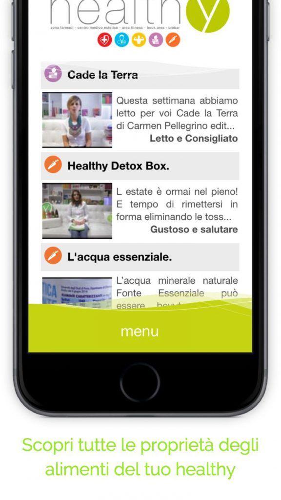 Funzionalita' dell'app: -Gestisci il tuo profilo -Esegui un test di autovalutazione del tuo stato di salute -Scopri i contenuti healthy eseguendo la scansione dei QrCode nel nostro centro -Scopri tutte le proprietà degli alimenti del tuo healthy -Configura l'assistente virtuale che ti invierà dei consigli giornalieri sugli alimenti.