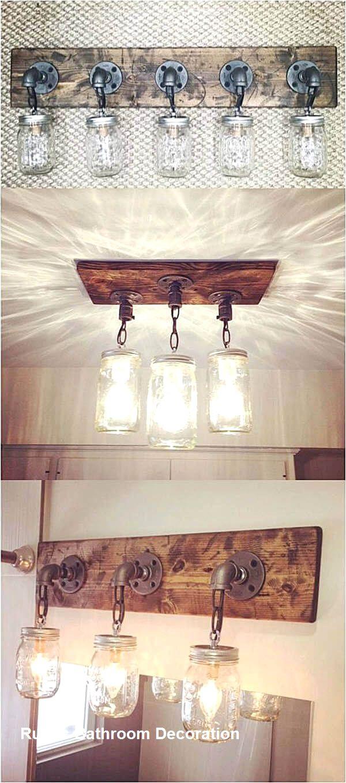 New Rustic Bathroom Decoration Rustic Diy Mason Jar Lights
