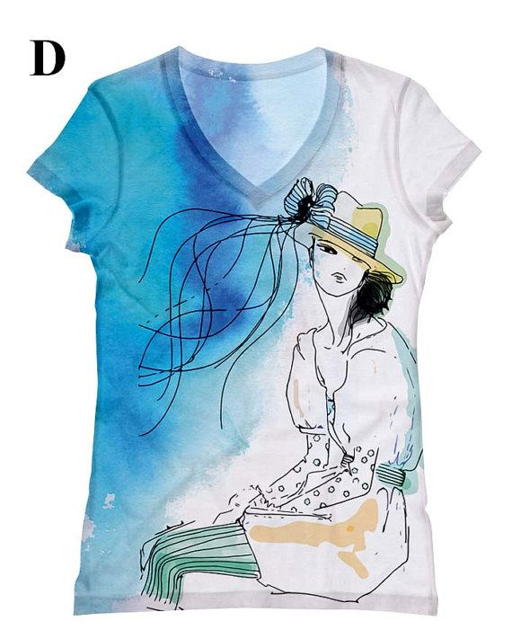 woman PLUS SIZE print with a hat and blue by hellominky on Etsy, $28.95