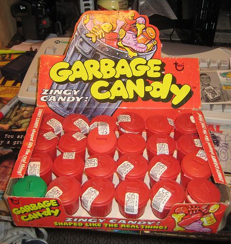 1970's candy | Topps Garbage Can-dy Full Display Box - Early 1970's