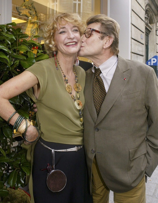 Yves St Laurent and Lou Lou de la Falaise